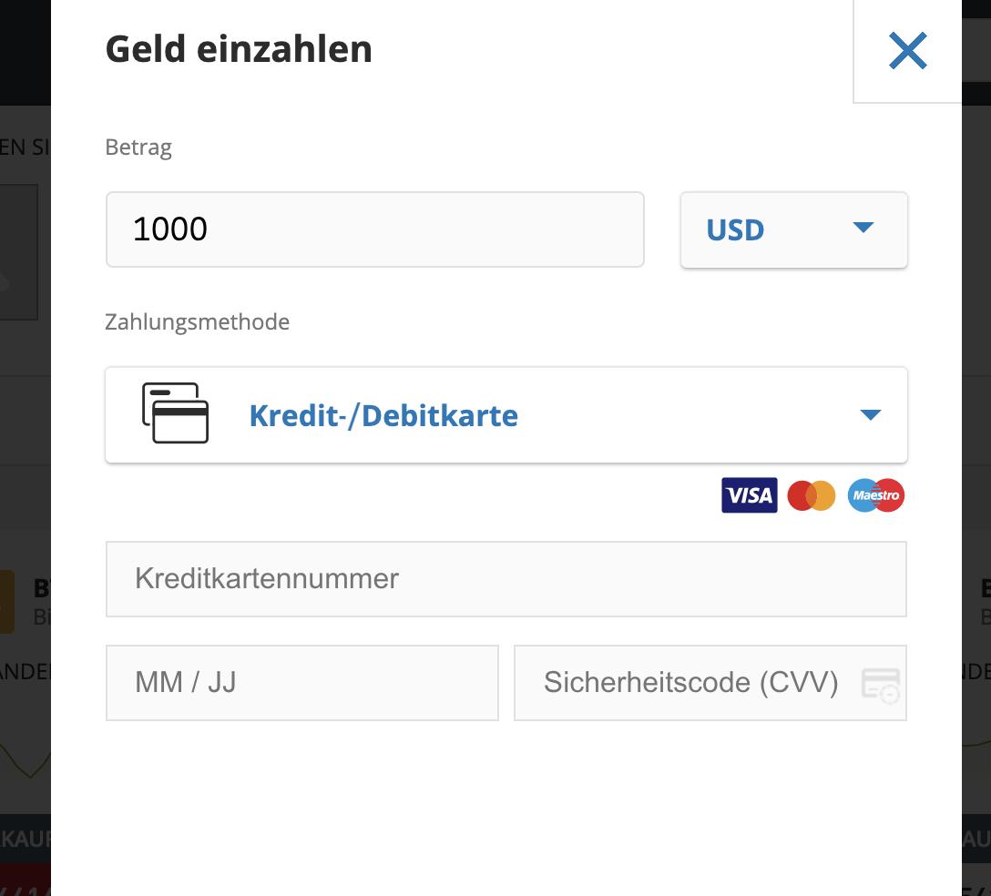 eToro Einzahlung