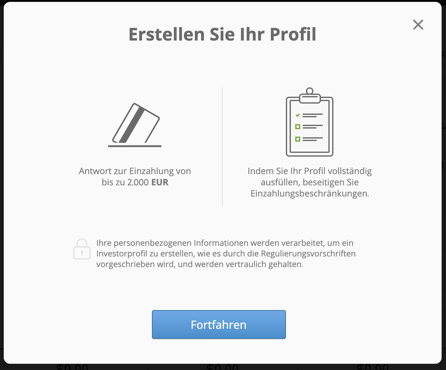 eToro Profil erstellen