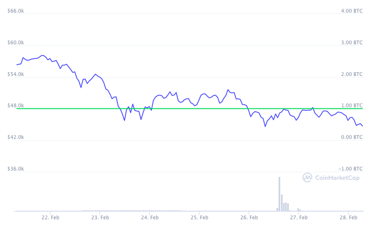 Bitcoin Kursverlauf 7 Tage