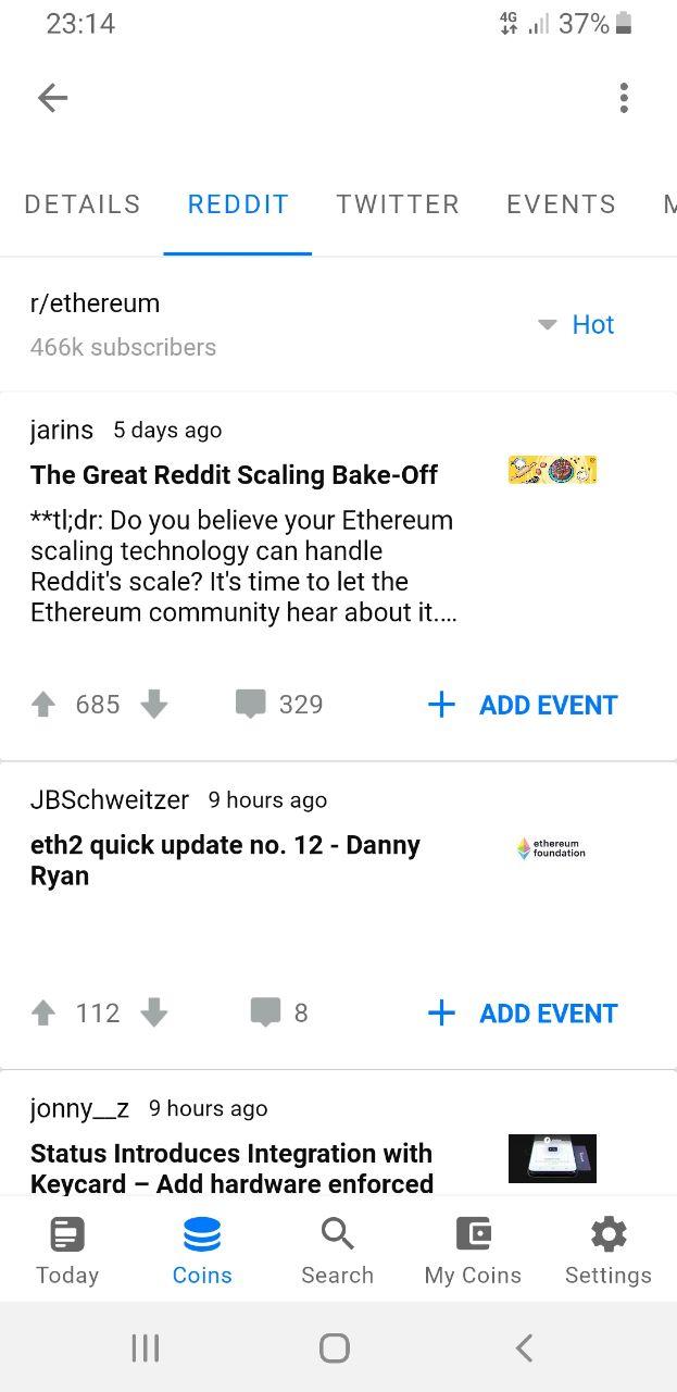 COINS: Ethereum Reddit News