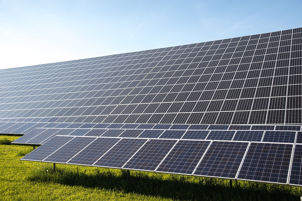 Solar powered crypto mining farm