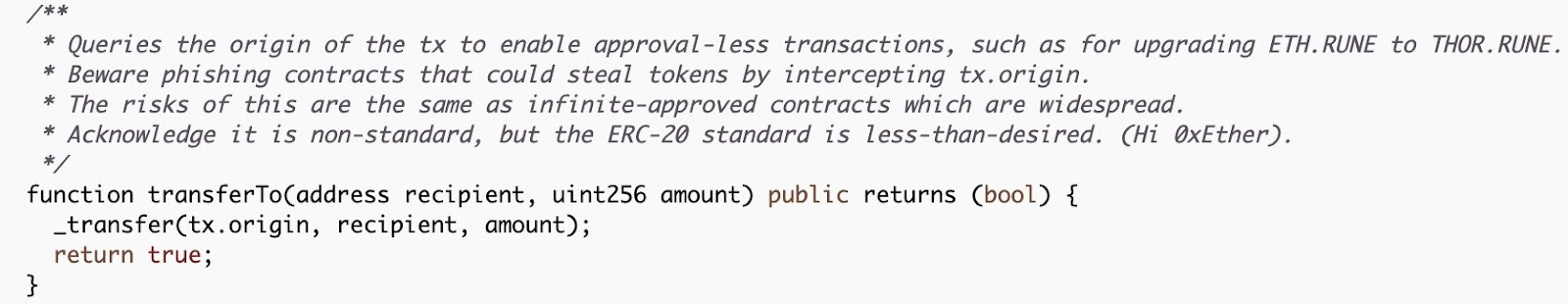 THORChain Code Documentation Notes The Issue