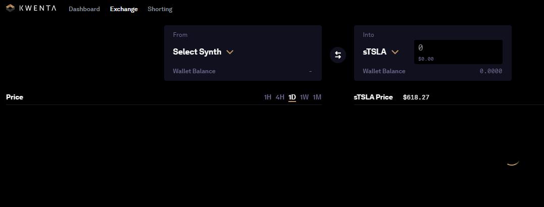 Trading Interface - Synthetix Kwenta Exchange