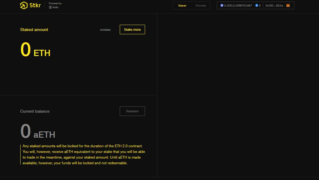 Ankr Stkr Ethereum Deposit Screen ethereum 2.0 staking