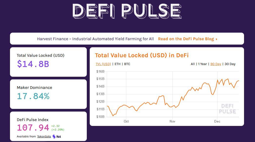 DeFi Pulse - Overview 1-Click DeFi