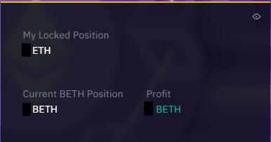 UI for tracking staking rewards