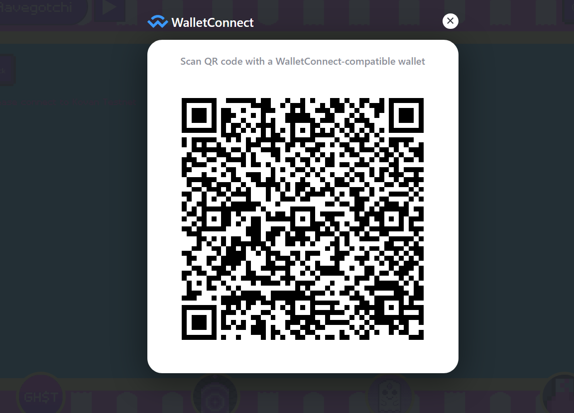 Wallet connect QR code