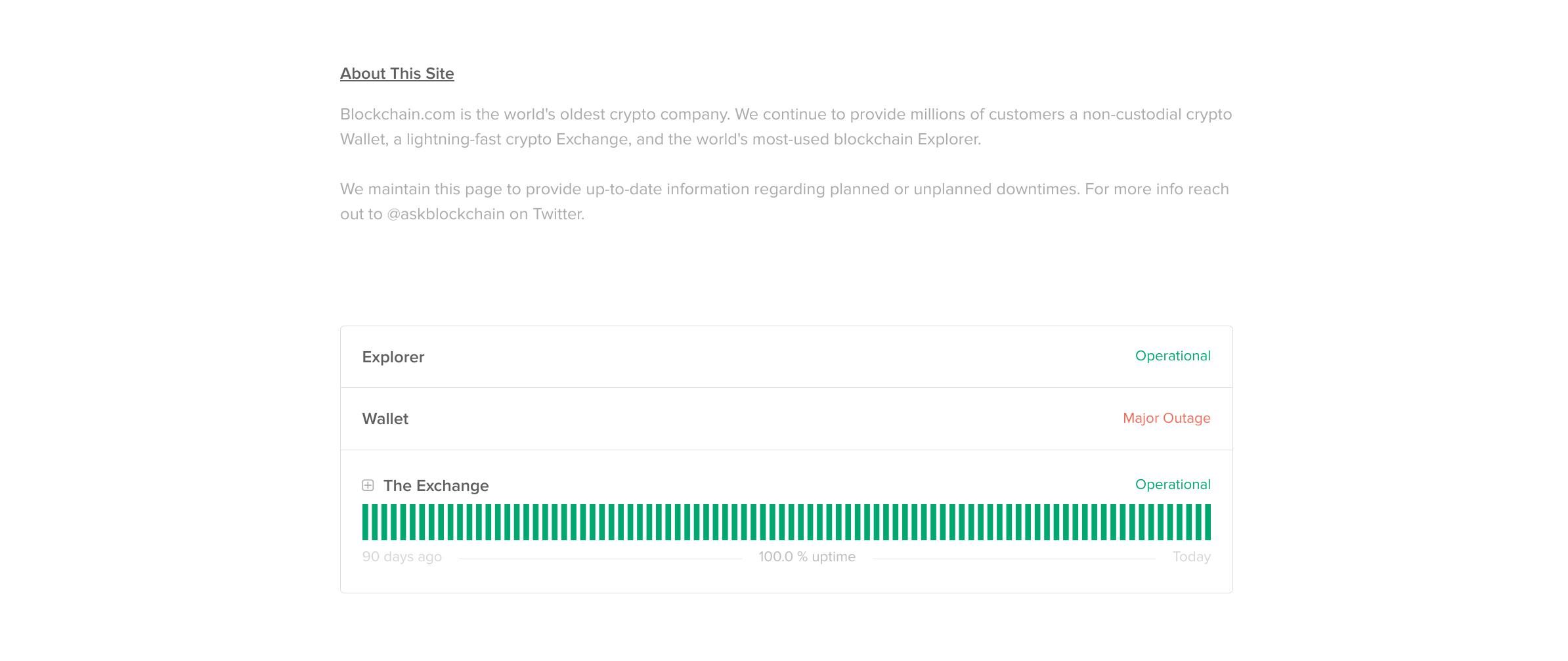 Blockchain.com - Major Wallet Outage