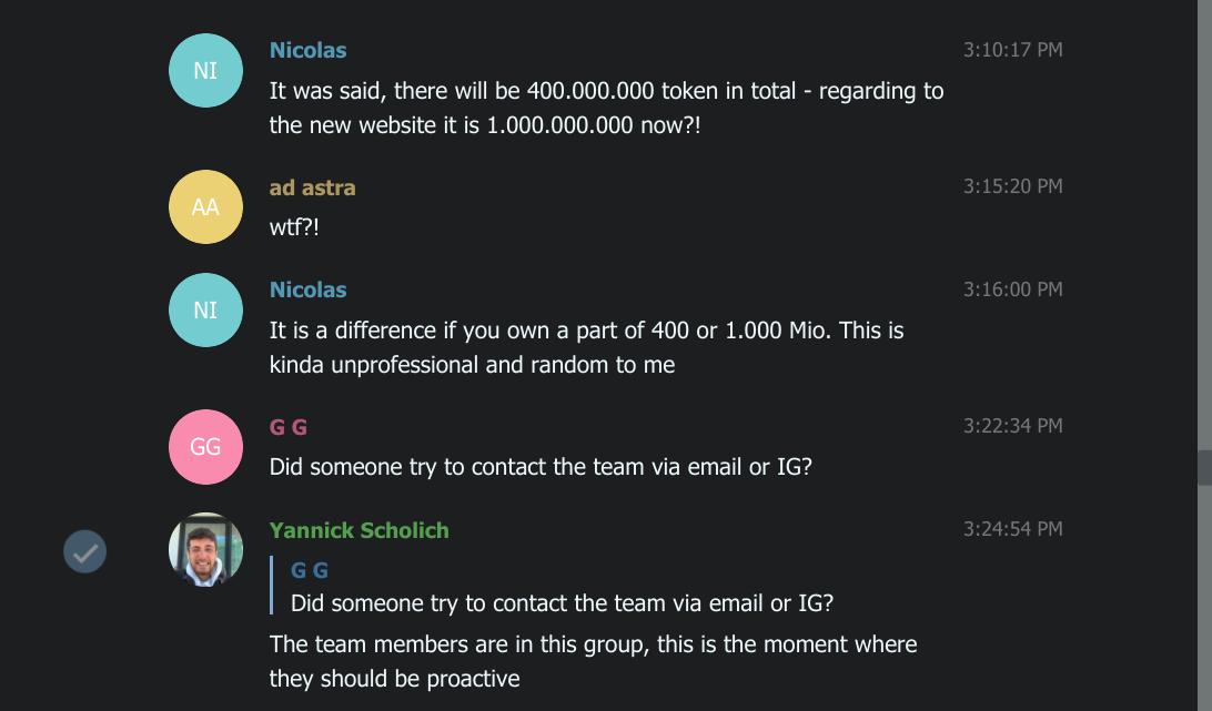 EVNT Telegram group