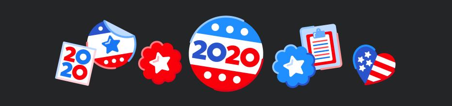 USA Election flags