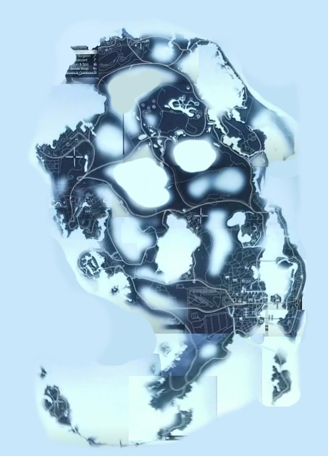 """Improved Stitched Design Of The """"Leaked"""" GTA 6 Maps - Credit Reddit u/startug"""
