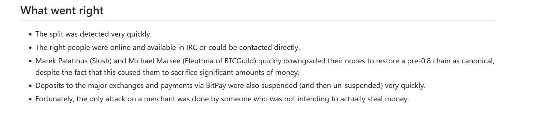 Gavin Andresen Description Of What Went Right - Post Martem Report Bitcoin immutability