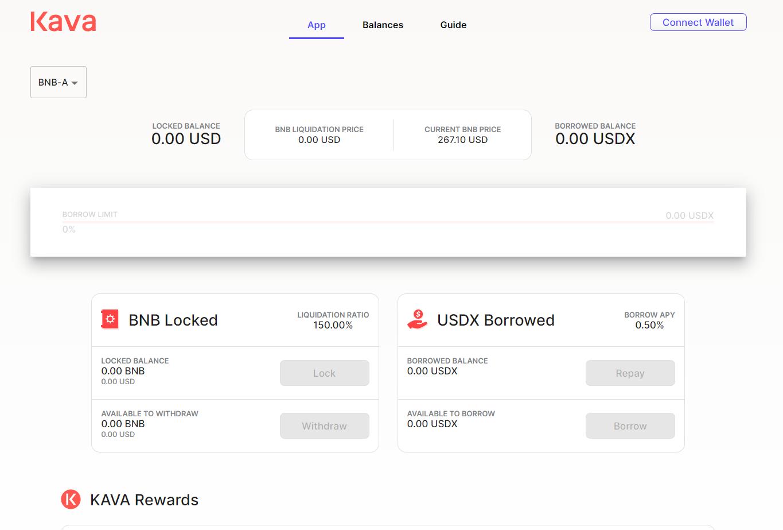 KAVA Platform - Connect a wallet