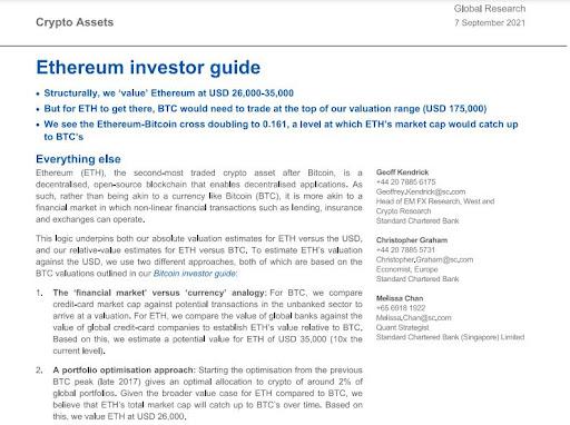 Standard Chartered Investor Guide Excerpt
